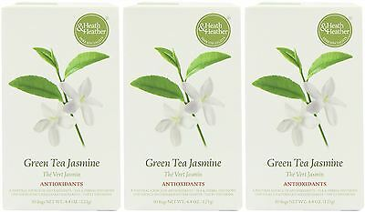 Heath And Heather Green Tea with Jasmine - 50 Bags (Pack of 3)