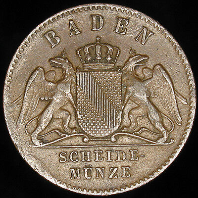German States Baden 1871 Kreuzer Germany