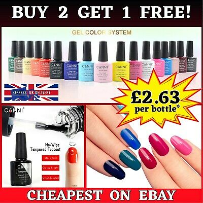 68 Colors Canni Nails Gel Polish Uv Led Soak Off Colors Base Top Coat Uk Quality
