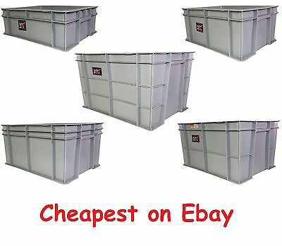NEW Stacking Heavy Duty Commercial Type Plastic Euro Storage Box Boxes Crate