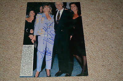 JANE FONDA & TED TURNER signed Autogramm 20x28 cm In Person