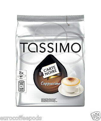 Tassimo Carte Noire Cappuccino Coffee 5 Packs (40 Servings) 80 T Disc