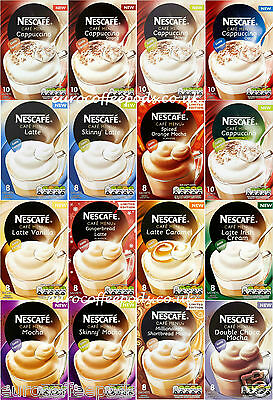 Nescafe Cafe Menu, Choose from 19 Various Flavours, 8 or 10 Sachets, 1 Box