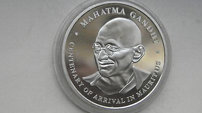 2001 Mauritius 100 Rupees Mahatma Gandhi Silver Proof coin
