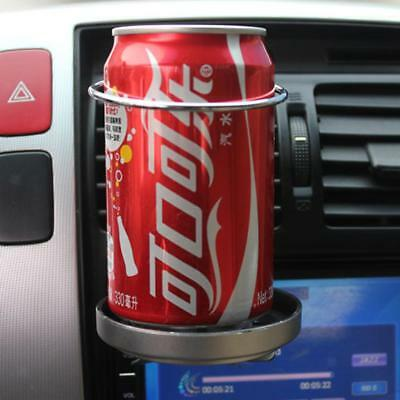 Universal Car Truck Air Vent Mount Drink Bottle Cup Holder Stand Silver