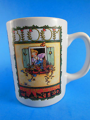 Mary Engelbreit Mug Cup BLOOM WHERE YOU ARE PLANTED