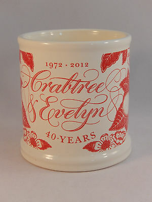 Crabtree & Evelyn Coffee Mug 40th Anniversary 1972 - 2012