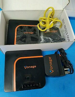 2 x Vonage Box VDV22 VOIP Phone Modem With Power Supply - Used