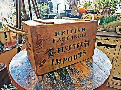 Vintage Style, British East India Fine Tea Crate, Box, Chest.