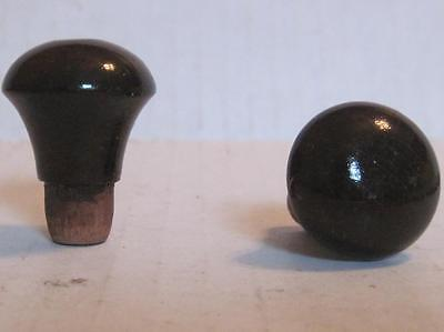 Lot of 2 Antique Wood Phonograph Knobs Vintage Cabinet Pulls Parts (#26A)