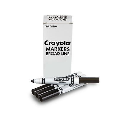 Crayola Markers Broad Line Washable 12-Count Black