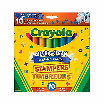 Crayola Ultra Clean Washable Stampers Markers 10 CT