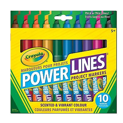 Crayola Powerlines Washable Scented Markers 10 CT