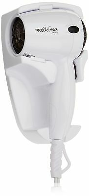 Jerdon JHD41W Wall Mount Hair Dryer with 2-Speed and Heat Settings 1600-Watts...