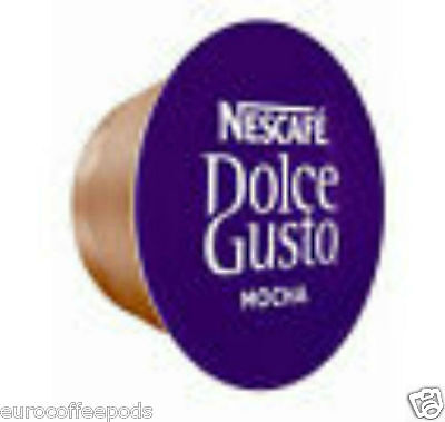 50 x DOLCE GUSTO MOCHA COFFEE PODS ONLY (NO MILK PODS)