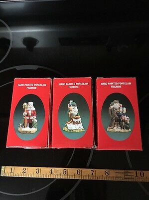Lot Of 3 - Santa Of The Nations 1991 England - Russia - Italy - Hand Painted