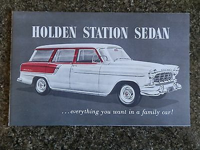 Holden 1958 Fc Station Sedan Sales Brochure.''rare'' 100% Guarantee