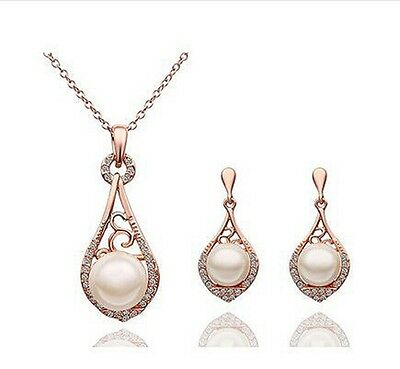 Wedding jewelry set ,bridesmaid jewelry set, Silver, Gold , Rose gold pearl pend