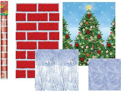 40Ft Winter Wonderland Room Roll Scene Setter Xmas Party Prop Wall Decoration