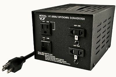 VCT VT-2000J Japanese Step Up/Down Voltage Transformer Converts Japan 100V to...