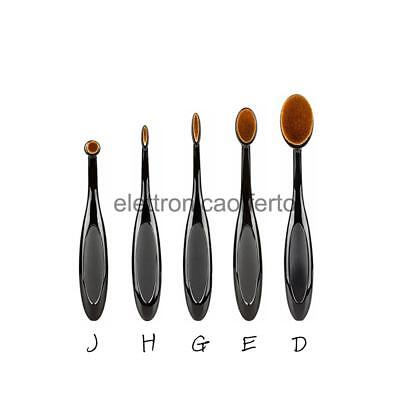 Pro Pennelli Ovale Cosmetici Make up Spazzola Spazzolino Fard 5pz/Set JHGED