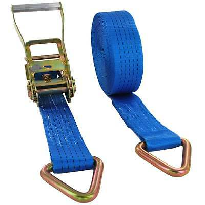 5000kg x 4m Ratchet Strap with D-RIngs 5t - 50mm Wide