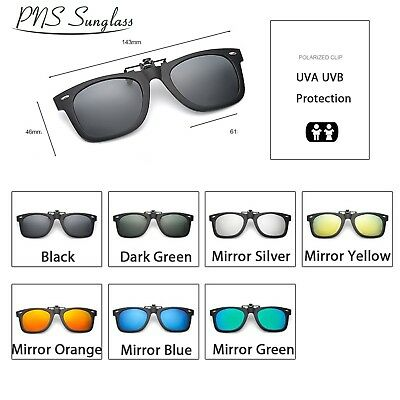 Fashion Retro Polarized Clip On flap up Sunglasses UV 400 Protection Mens Womens