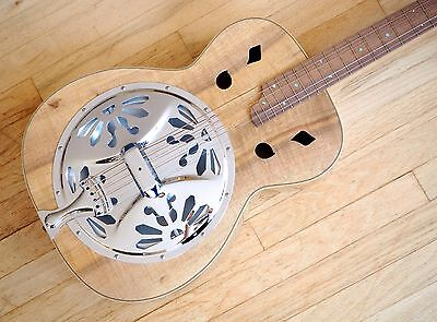 2004 Pancetti Instruments Reso Model Resonator Acoustic Guitar USA Made w/ Case