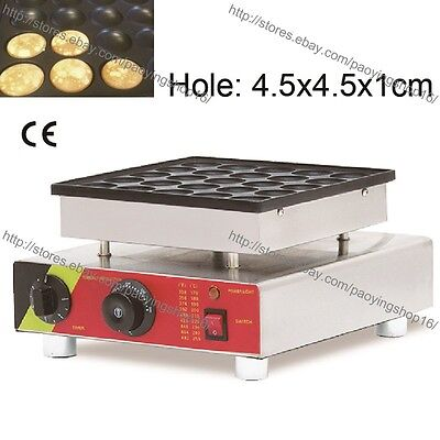 Nonstick Electric 25pcs Poffertjes Iron Mini Dutch Pancake Maker Baker Machine