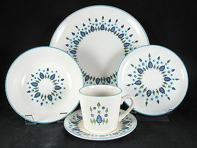 Marcrest Swiss Chalet Alpine Dinnerware, 20 pc, Stetson, Service for 4, vtg