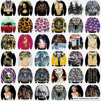 Mens Womens 3D T-shirts Sweaters Sweatshirt Pullover Tops Tracksuit Jumpers CODU