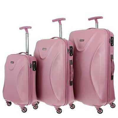 march15 - 'Twist' -  3er Set pink Reisekoffer Trolleyset TSA-Zahlenschloß