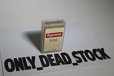 Supreme Toothpick Cendrier Metal Deck Sandals Rug Engraved Silver Tooth Pick
