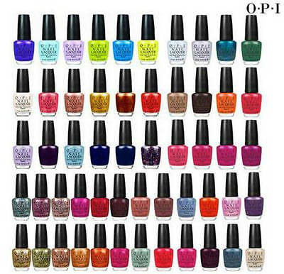 OPI Nail Lacquer Natural Drying Nail Polish Varnish All Colours Selection 1