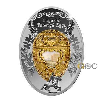 Niue 2015 1$ Peter The Great Egg Imperial Faberge .999 silver coin with box