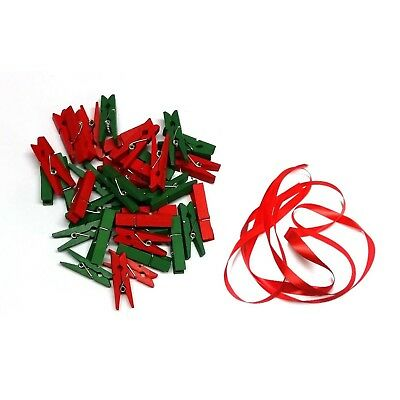 100 Christmas Mini Pegs 3.5cm - Wooden