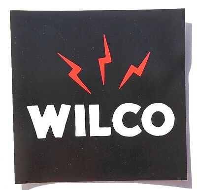 NEW 2016 Black Wilco Schmilco Square Promotional Sticker