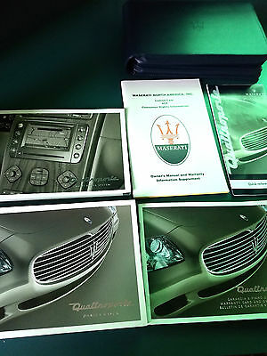 Maserati 2005 Quattroporte Manual Set in Blue Leather Wallet