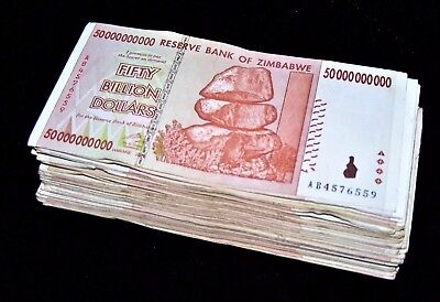 50 x Zimbabwe 50 Billion Dollar banknotes-AA/AB 2008/circulated currency