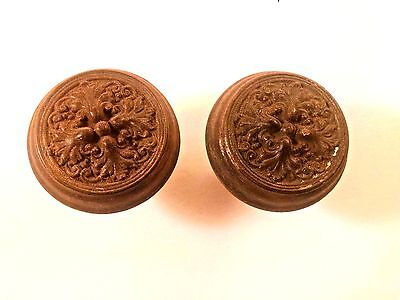 ANTIQUE CAST IRON 1905 SARGENT HARDWARE TRURO 2 Doorknobs  DOOR KNOB H-429