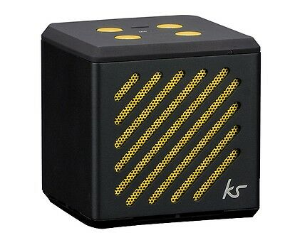 KitSound Tilt Mini Bluetooth Speaker with Built-In Microphone- Black