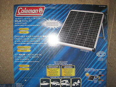 70 Watt 12 Volt Solar Crystalline Panel 70w 12v Camping  With Inverter and More