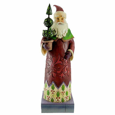 Jim Shore Heartwood Creek 4010849 Santa With Topiary Tree Holiday Trim New Boxed