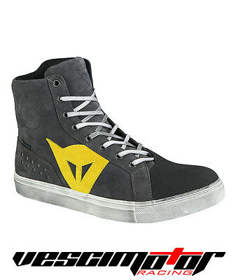 Scarpa Dainese Street Biker D-WP Shoes Anthracite/Yellow