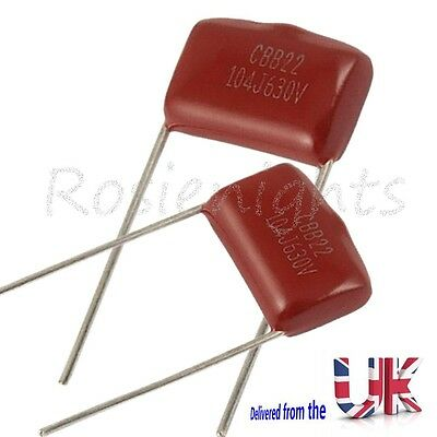 1To30 Polypropylene CBB22 630V 0.1uF 104J Radial Lead Metallized Film Capacitors