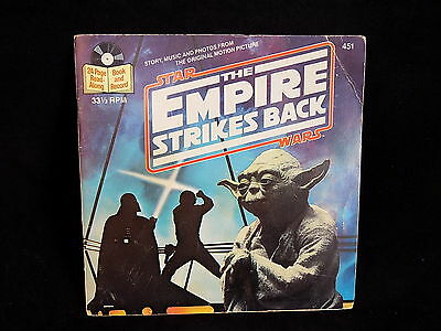 STAR WARS EMPIRE STRIKES BACK read along book BOOKLET AND 33 1/3 RPM record