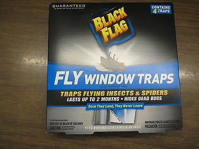 Black Flag  fly window traps 45 degree angle type 2 each (4 -packs)