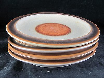 4 Denby Potters Wheel Rust Red Bread Plates 6-3/4\  & SET (6) Denby RUST RED POTTERS WHEEL Salad Plates ENGLAND - $39.99 ...