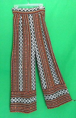 Vintage 70s Guatemalan Boho Hippie Bell Bottoms Pants Textile Hand Loomed