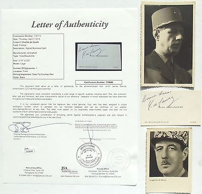 Charles de Gaulle French General, Politican Autograph JSA Authenticated ''Rare''